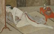 Balthus - Japonaise à la table rouge - Caséine et tempera sur toile 144 x 192.5 cm Peint entre 1967 et 1976 - €3.000.000-5.000.000
