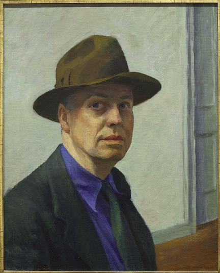 Edward  Hopper,   Autoportrait,  1925-1930.