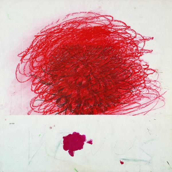 Cy Twombly, 1980, Techniques mixtes sur papier, Donation Yvon Lambert à l'Etat Français / Centre national des Arts plastiques / Dépôt à la Collection Lambert en Avignon © Cy Twombly